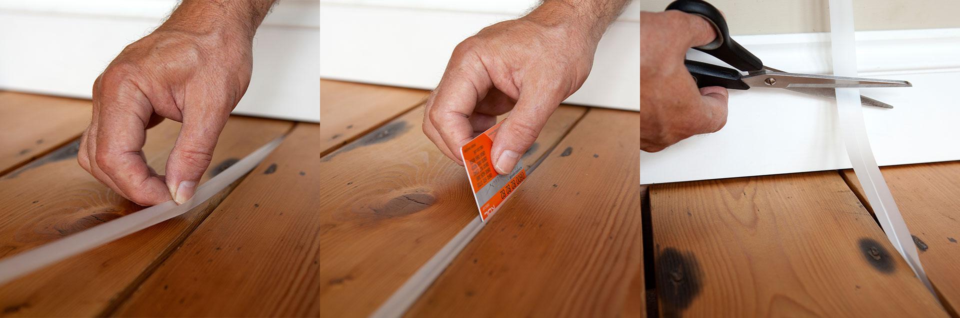Sealing Floorboard Gaps Stopgap